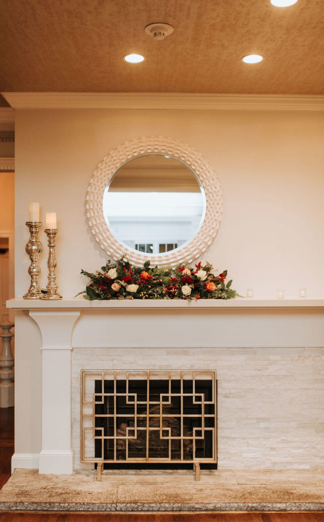 fireplace in the ballroom