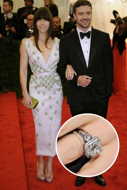 Hollywood's Best Celebrity Engagement Rings Jessica Biel & Justin Timberlake.jpg