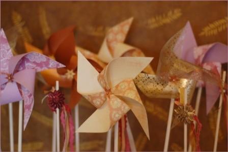 Pinwheels and Ribbon Wands