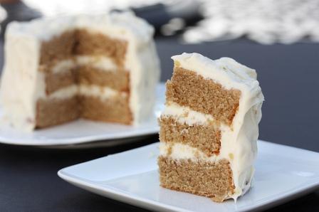 Chai Cake With Honey Ginger Cream