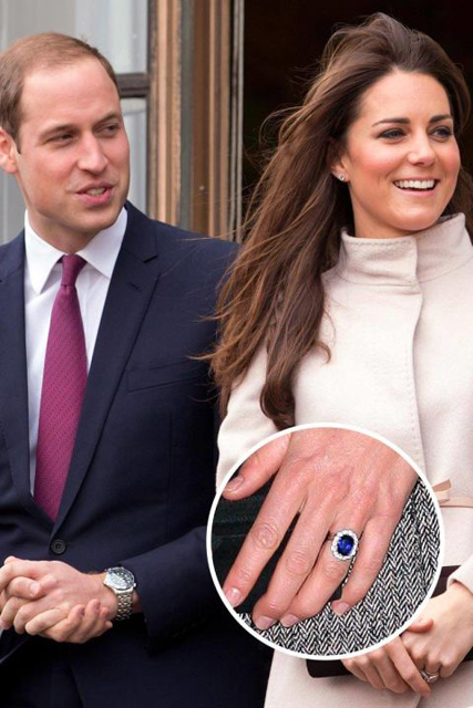 Hollywood's Best Celebrity Engagement Rings Kate Middleton & Prince William.jpg