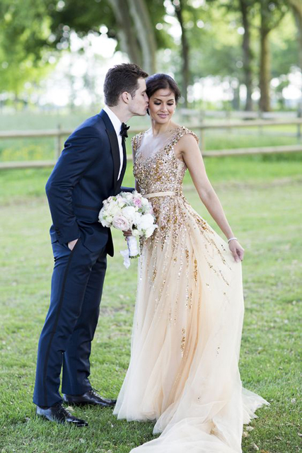 Colored Dresses Gold Wedding Gown.jpg