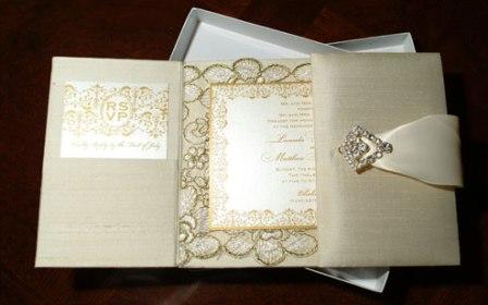 Silk Gatefold Folio Invitation