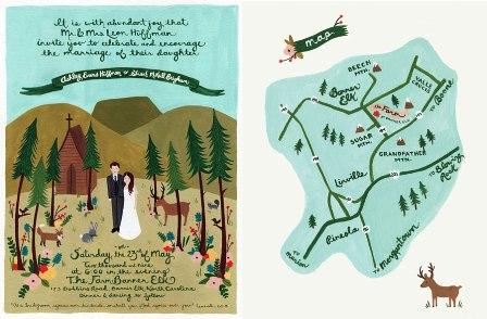 Mountains of North Carolina Invitation