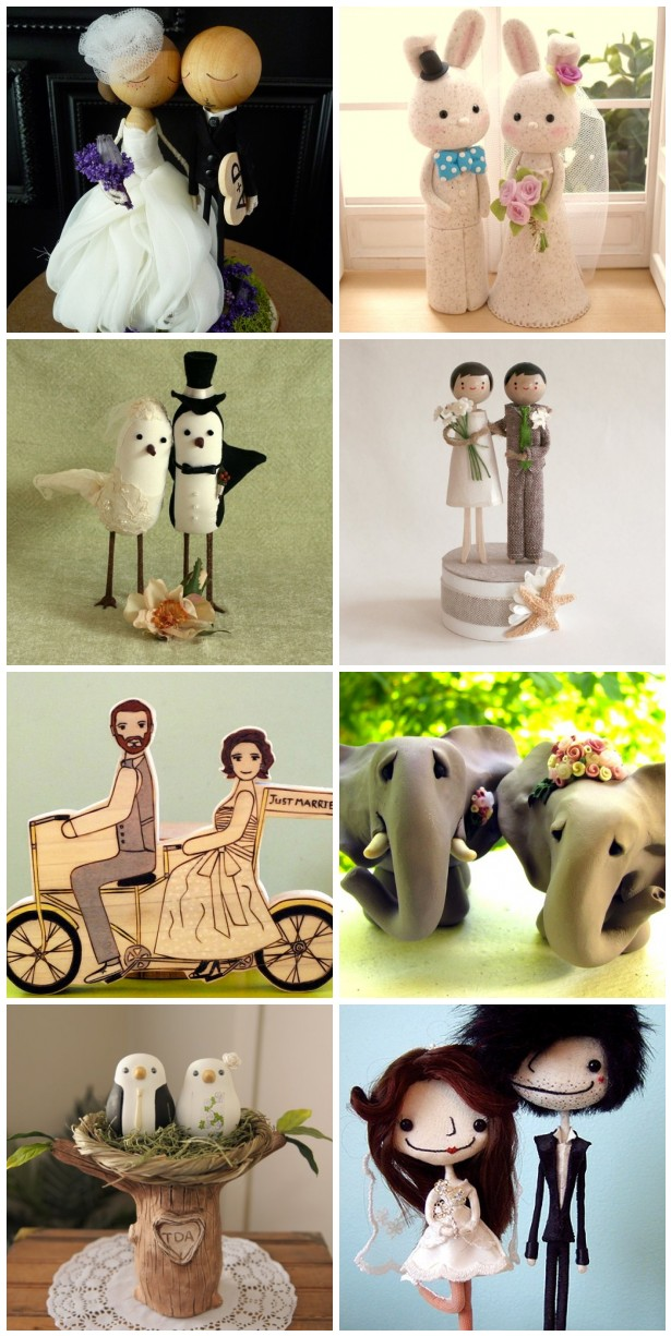 Wedding Cake Toppers Collage
