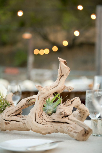 Driftwood Branch Non Floral Wedding Centerpieces