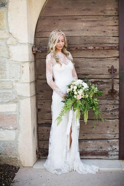 Fabulous fall wedding dress ideas long sleeves and lace fall wedding dress ideas 1g junglespirit Choice Image