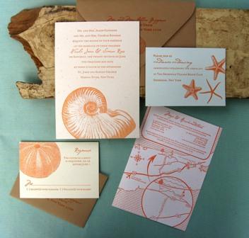 Vintage Shells Invitation