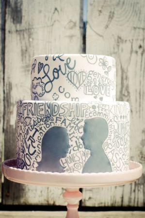 Graffiti love cake