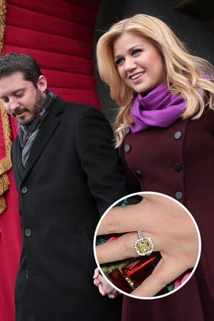 Hollywood's Best Celebrity Engagement Rings Kelly Clarkson & Brandon Blackstock.jpg