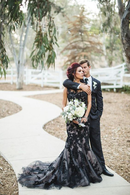 Colored Dresses Black Wedding Gown.jpg